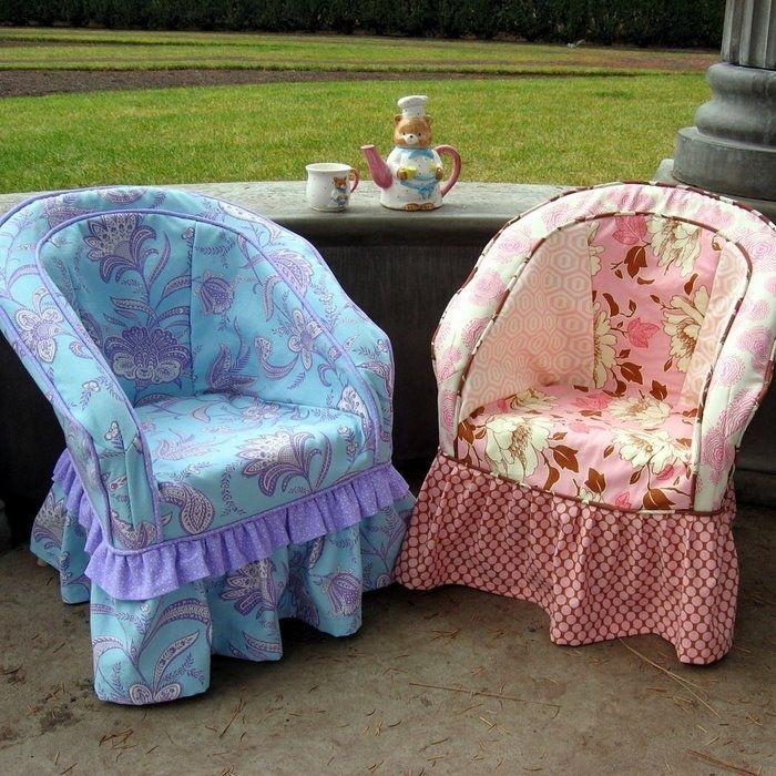 Чехлы на старые кресла своими руками 18